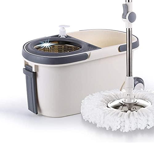 ZXCVBNN 360 Grados Gorrar el hogar Cubo de la fregona Rotación de Agua Rotación de Agua Lavado a Mano Mojado y seco Dual Uso automático MOP Lazy Dry Dry