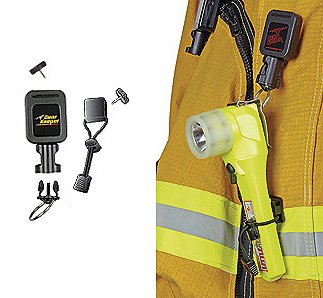 Gear Keeper Firefighter Rescue Right-Angle Flashlight Retractor Lanyard Emergency Equipment Gear Authorized Dealer Full Warranty GSA Certified, RT3 4322