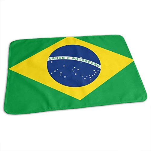 Braziliaanse vlag veranderen pad waterdichte zachte baby veranderen mat om luier matras pad cover voor jongen en meisje pasgeboren (27.5