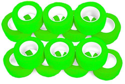 Vendaje para dedos (autoadhesivo, 2,5 cm de ancho, 14 unidades), color verde