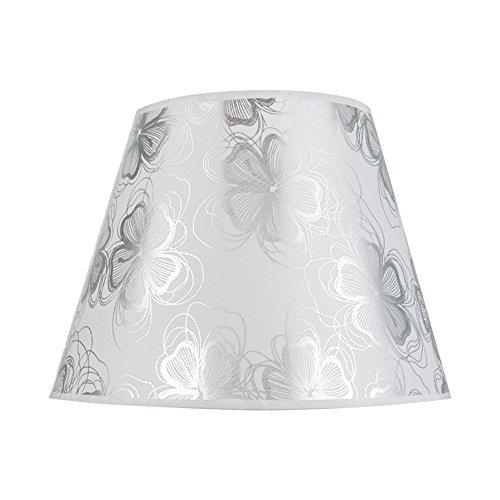 Eastlion 18 * 30 * 20cm Einfache Tischleuchte Lampenschirm Nachttisch Lampenschirm Wandleuchte Lampe Schattierungen, Silber Blume
