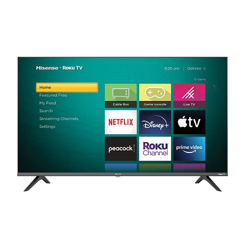 Hisense 43-Inch Class H4 Series LED Roku Smart TV with Google Assistant and Alexa Compatibility (43H4G, 2021 Model)