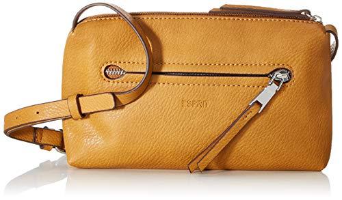 Esprit Accessoires Damen Tori Smllshldbg Umhängetasche, Gelb (Amber Yellow), 3,5x23x13 cm