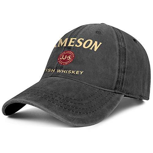 HIRGOEE Mens Womens Jameson-Black-Logo Cap Casual Hats Sports Caps