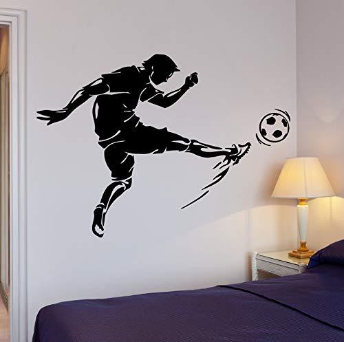 yaonuli Mode Fußball Spielen Fußball Sport Dekoration Coole Aufkleber Junge Zimmer Wandtattoo 63X93cm