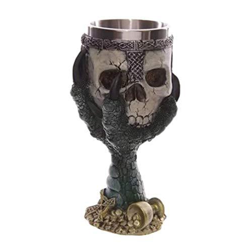 Holibanna Ossuaire Skelett-Stil Weinbecher Mittelalter Kollektion Halloween Dekoration zu Hause 7 * 7 * 18.5cm Foto 4