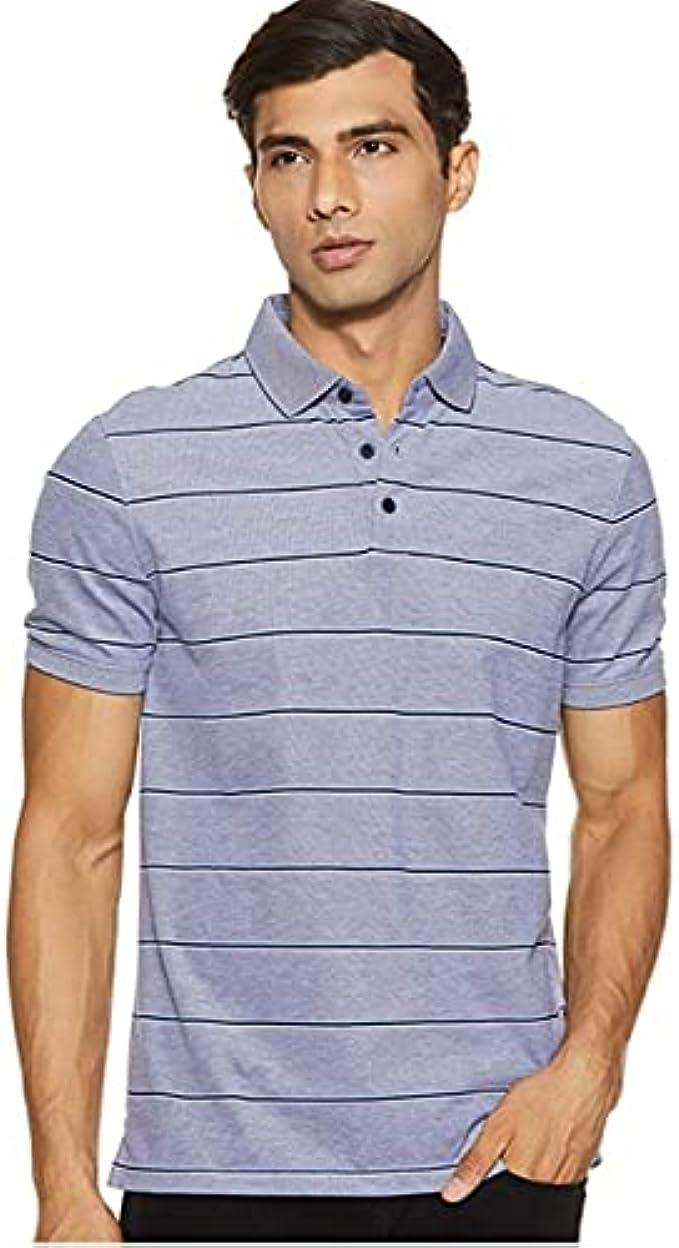 Calvin Klein Men's Liquid Touch Polo Stripe with UV Protection