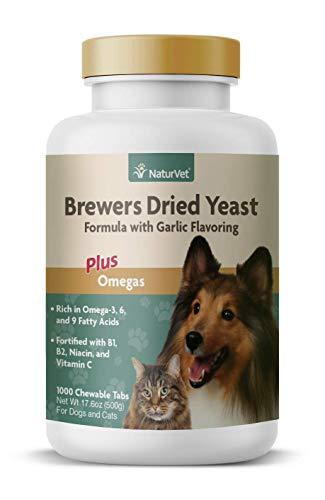 NaturVet – Brewer's Dried Yeast Formula with Garlic Flavoring – Plus...