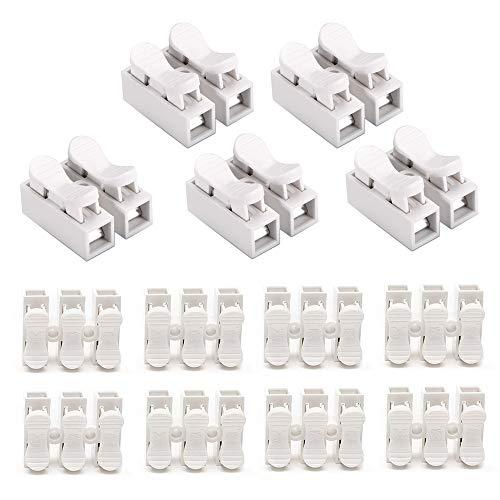 YIXISI 90PCS Connettori Molla, Morsettiera Terminale a Molla Rapida, Connettore Rapido, Collegamento Per Cablaggio Elettrico e Alimentazione Illuminazione - (CH2*70, CH3*20)