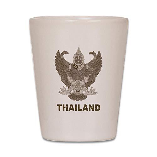 CafePress Vintage Thailand Shot Glass, Unique and Funny Shot Glass