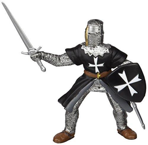 Papo 39938 Welt des MITTELALTERS Ritter der Johanniter mit Schwert, Mehrfarben
