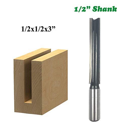 1Pc 1/2 Shank Extra Lange Rechte Router Bit 3