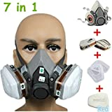 AiliveSun 7 in1 Half Face Cover Facepiece Mouse Cover 6200 Spray Paint Protective Mask Suit