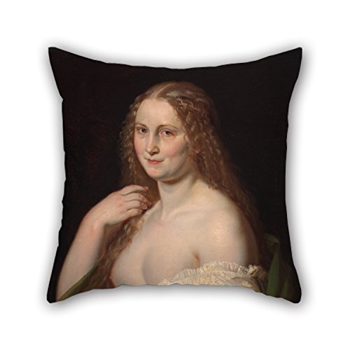 Bestseason Oil Painting Josef Mánes - Josephine Christmas Pillow Covers 16 X 16 Inches / 40 by 40 cm Best Choice for Dining Room Chair Couples Son Lounge Car Seat with Each Side