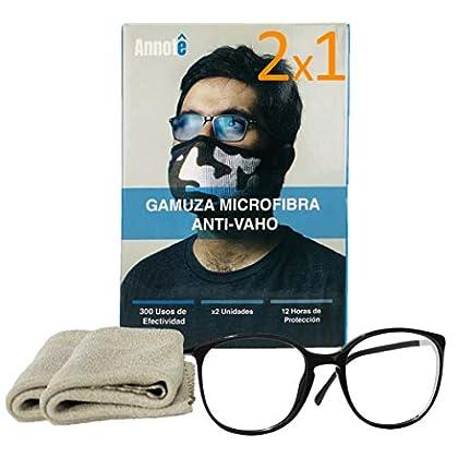 2 x 1 GAMUZA MICROFIBRA ANTI-VAHO GAFAS x 2 UNIDADES – Premium Gamuza Anti Vaho Cristales Gafas – Toallitas Gafas…