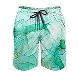 Chicici Fashion Pantalones cortos de verano mágicos para hombre, transpirables, pantalones cortos de playa con forro de malla