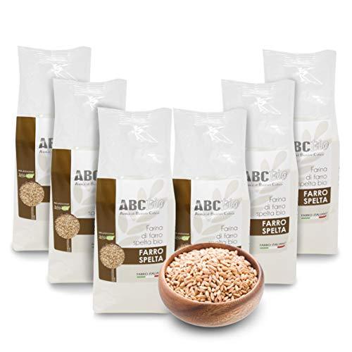 Carioni Food & Health Harina de espelta ecológica - 500 gr (Paquete de 6 Piezas)