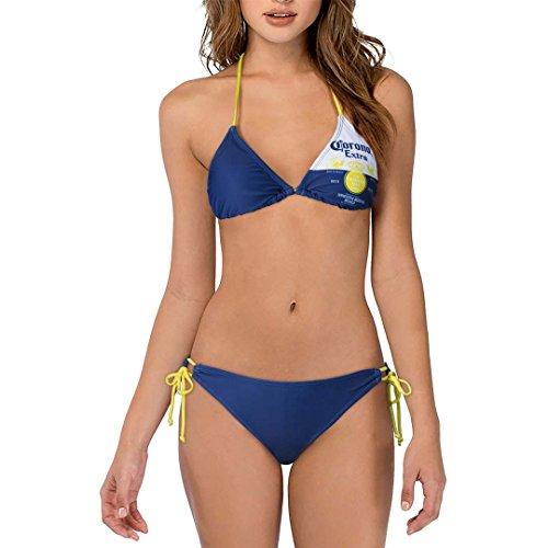 Corona Extra Label Zweiteilige Damen Bikini-Badeanzug Navy X-Large