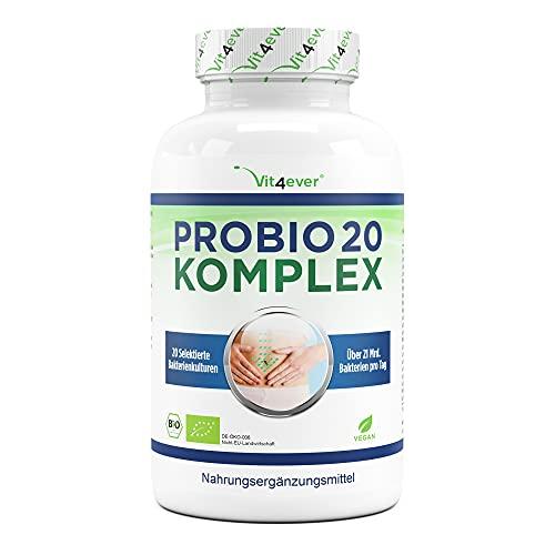 Probio 18 Complex - Complesso di colture con 18 ceppi batterici + FOS - 180 capsule rivestite con enterica (DRcaps®) - 13 miliardi di batteri lattici al giorno - Altamente dosato - Vegan