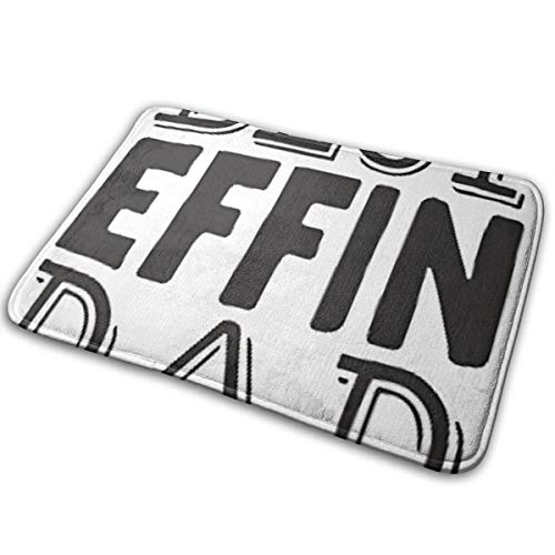 "Best Effin Dad Funny Quote Coffee Mug, Fun Mugs, Dad Mug Floor Bath Entrance Rug Mat Absorbent Indoor Bathroom Decor Doormats Rubber Non Slip 15.7"" X 23.5"""