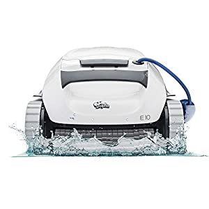 The easy way to a clean pool. The Dolphin E10 robotic pool vacuum cleaner was designed specifically for above-ground swimming pools, making it the perfect solution for pools up to 30 feet. Backed by a 2-year quality assurance, get a worry free clean....