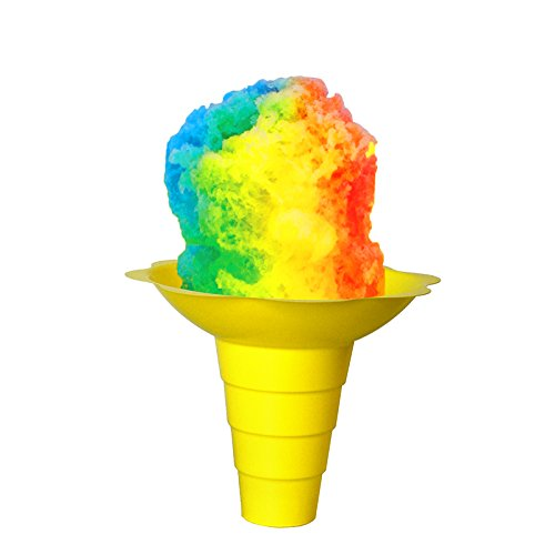 Large Flower Cups for Serving Shaved Ice or Snow Cones, Case of 800, Blue, Purple, Red, Yellow