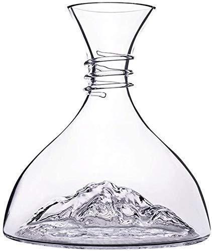 Decantadores Iceberg sin Plomo Cristal Vino Rojo Vino rápido vierta Jarra Tapa 1500ml