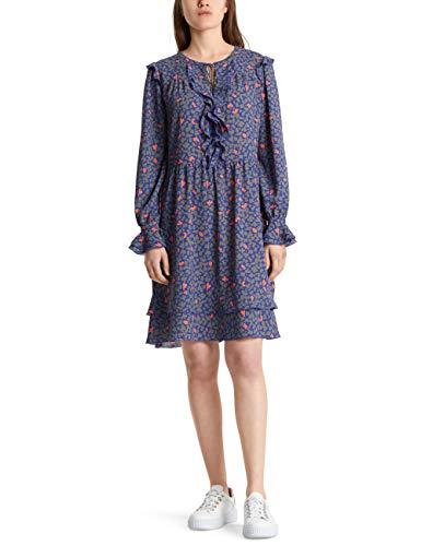 Marc Cain Collections Damen MC 21.09 W05 Kleid, Mehrfarbig (Blue Violet 751), 42 (Herstellergröße: 5)