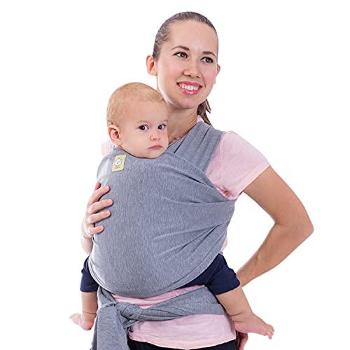 Fular portabebés - Fular portabebés elástico todo en 1 - Portabebés lateral - Mochila Portabebés - Fular para bebés - Fular portabebés manos libres - El mejor regalo de Baby Shower (Classic Gray)