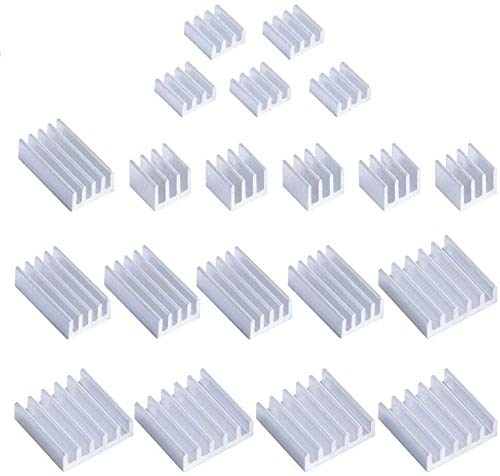 GeeekPi 20PCS Heatsinks For Raspberry Pi 4 Model B,Raspberry Pi Aluminum Heatsinks with Thermal Conductive Adhesive Tape For Raspberry Pi 4B (Raspberry Pi Board is Not Included)