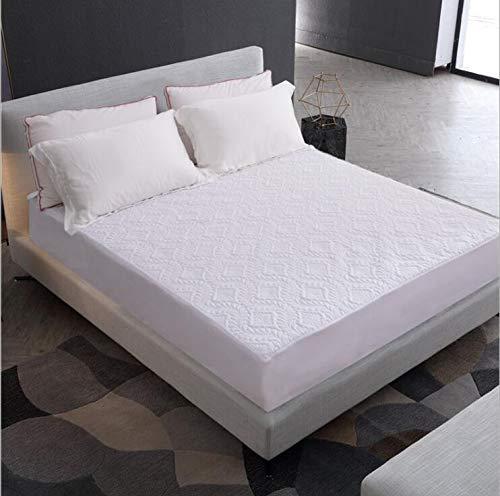 BEDDIANTAO matrasbeschermer, waterbestendig, matrasbeschermer van katoen, waterbestendig, hypoallergeen, waterdicht, blauw, beschermt de matras tegen stofmijt, 160 x 200 cm