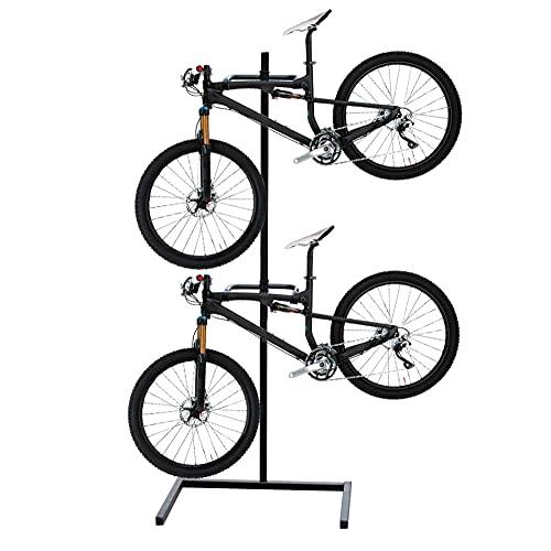 Zaaqio Acero Soporte Reparacion Bicicleta,Soporte para Reparacion Bicicletas Ajustable, Ligero, Portátil Soportes Bicicletas Suelo para Bicicleta De Carretera Y Bicicleta De Montaje