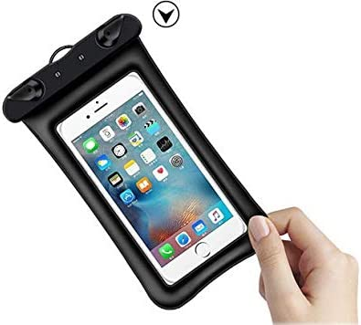 Travel Cellphone Waterproof Pouch Dry Bag Case for Samsung Galaxy S10 / S10+ / Note9 / Note8 / S9 Plus / S8 Plus / S8 Active/Motorola Moto z4 Play / z3 / g7 / z3 Play / g6 Play (Black)