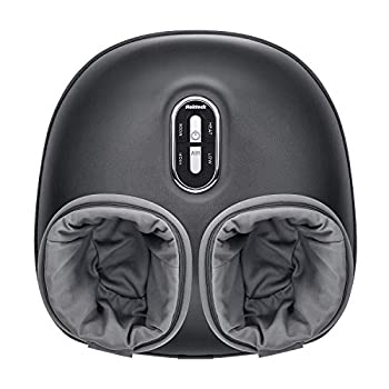 Nekteck Shiatsu Foot Massager Machine with Soothing Heat Deep Kneading Therapy Air Compression Relieve Foot Pain and Improve Blood Circulation,Relax for Home or Office Use  Gray