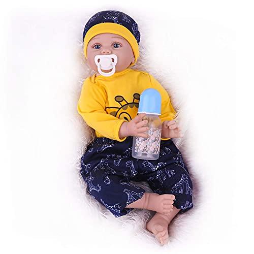 CHAREX Reborn Baby Doll, 22 Inch Lifelike Newborn Baby Boy Doll, Handmade Weighted Reborn Toddler Toy