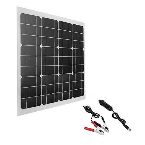 Zonnepaneel, ASHATA 40W Draagbaar Flexibel Hoog rendement 12V Zonnepaneel Buiten, Multifunctioneel Zonnepaneel Opslagbatterij Zonnebatterijlader voor thuis/boot/jacht