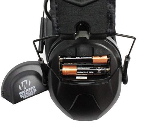 Walker's Razor Slim Electronic Muff, Black