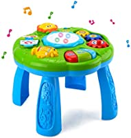 HANMUN Musical Learning Table Baby Toy - Electronic Education Toys for Toddlers Early Development Activity Toy (Green,...