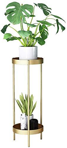 2-Capa de macetas de Rejilla Estante del pote de Flor de Metal para Creativa Interior y Exterior terraza del jardín terraza de 50 cm de Altura macetas Altas,Diameter 25cm
