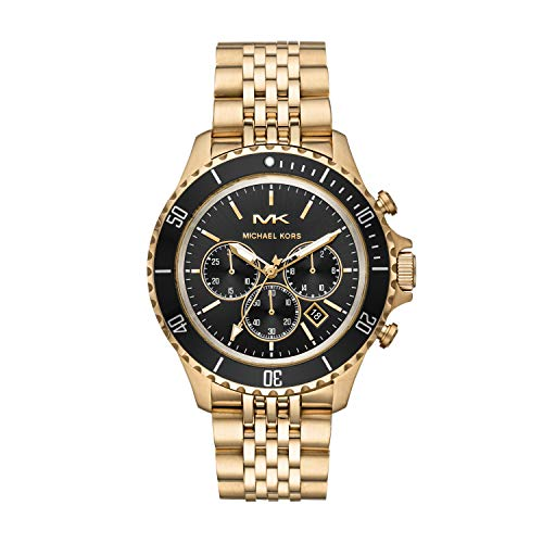 Michael Kors Herren Chronograph Quarz Uhr mit Edelstahl Armband MK8726
