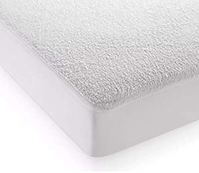Highliving Waterproof Terry Towel Mattress Protector Topper Cover Anti Allergy, Non Noisy 12 Inch Deep by Highliving
