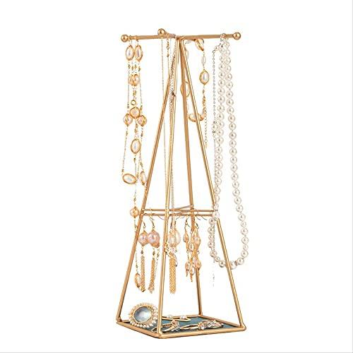 Estante de la joyería tipo torre hierro nuevo estante de la joyería collar de perlas de metal precioso pulsera pendientes exhibición actividad contador estante de exhibición oro