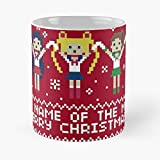 Artemis Christmas Girl Magical Sweater Ugly Moon Luna Sailor Eat Food Bite John Best 11oz Ounce White Ceramic Coffee Mug