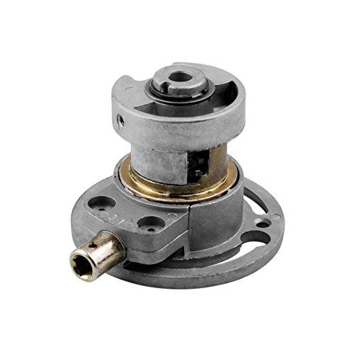 DIWARO® K017 Rolladengetriebe | Untersetzung 3:1 links & rechts | Antrieb 6mm Innenvierkant | Kurbelgetriebe, Kegelradgetriebe für SW 50 Rolladen Rundwelle im Rolladenkasten