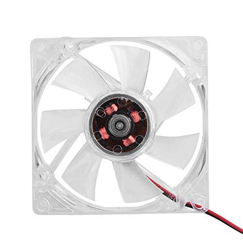 Dpofirs Ventilador de Refrigeración para Caja de Compùtadoras, 80mm Ventilador de Luz LED Azul Universal para Enfriamiento de PC, Enfriador Silenciosa de Alta Velocidad, 11dB-A 46CFM 4Pines(Azul)