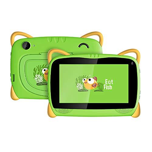 HJGHY Tableta para Niños Tableta con WiFi Android 6.0 de 7 Pulgadas para Niños Pequeños con Estuche de Prueba y Soporte Tableta de Aprendizaje para Niños para la Escuela en Casa,Verde