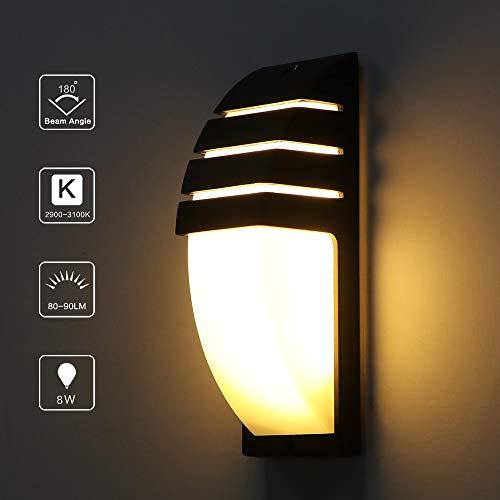 GZSC wandlamp, 8 W, COB, LED, wandlamp, moderne decoratie, industrieel, AC 85 – 265 V, buitenverlichting, waterdicht, voor badkamer, tuin, huis