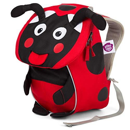 Affenzahn Kleiner Freund - Kindergartenrucksack für 1-3 Jährige Kinder im Kindergarten und Kinderrucksack für die Kita - Marienkäfer - Rot