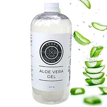 Organic Aloe Vera Gel with 100% Pure Aloe Vera Leaf   100 Percent Pure Aloevera Gel Bulk   Organic Alo Gel    32oz
