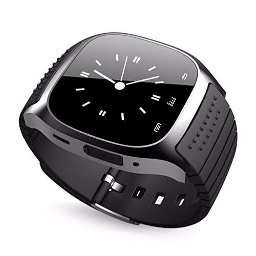 Kinshops M26 Smartwatch da Polso Impermeabile contapassi Smartwatch Chiamata Risposta Lettore Musicale Telecamera remota per Telefono Android, Nero